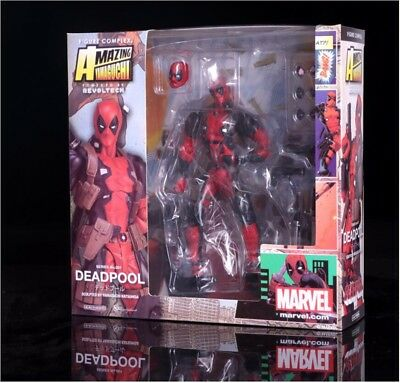 "Deadpool Marvel Revoltech Series No.001 Kaiyodo 6"" Action Figure A89P"