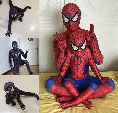 Erwachsene&Kinder Spiderman Kostüm Karneval Spinne Cosplay Overall Geschenk DE (Cosplay Kostüm Spiderman)
