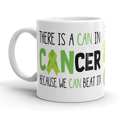 - Lymphoma Cancer Awareness Coffee Mug Can Beat It Lime Green Ribbon Survivor Cup