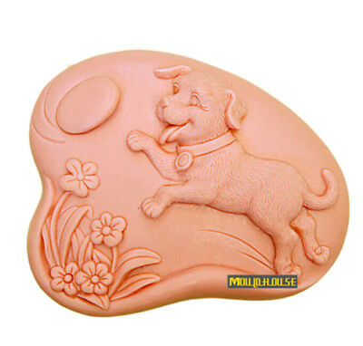 Dog Silicone Soap Mold DIY Craft Candle Resin Mould Flexible Homemade Soap Mold