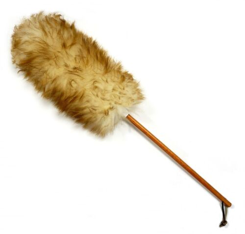 """25"""" Premium Australian Lambs wool Cleaning Duster with Leather Strap"""