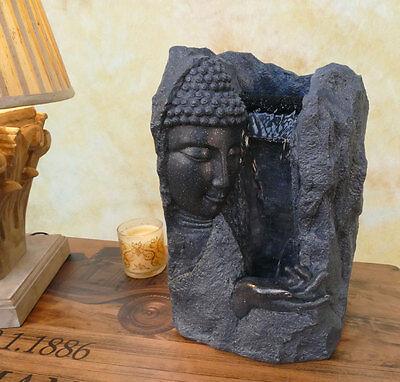 Zimmerbrunnen Springbrunnen Wasserwand Tischbrunnen Kaskade Buddha DW06-b (Springbrunnen Buddha Wasser)
