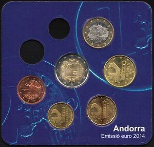 Andorra-Partial-2014-Brilliant-Uncirculated-Mint-Set-Low-Mintage-Coins
