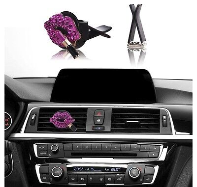 Bling Bling Car Accessories Interior Decoration for Girls - Hot Pink Lipstick