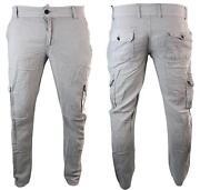 Mens White Linen Trousers