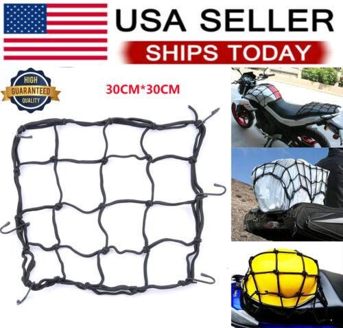 Cargo Net Motorcycle Cord Helmet  Mesh Elastic Rope Adjustable Black 6 Hooks US eBay Motors