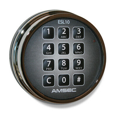 Amsec Esl10xl Electronic Programmable Safe Lock Dead Bolt Keypad Chrome - New