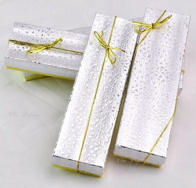 Lot Of 10 Gold Silver Cotton Filled Box Jewelry Box Bracelet Box Deal