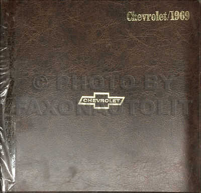 1969 Chevy Car Color and Upholstery Dealer Album Data Book Chevrolet Showroom