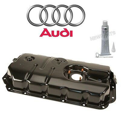 For Audi A6 A8 Quattro Q7 S5 V6 Lower Engine Oil Pan w/ Sealing Compound Genuine