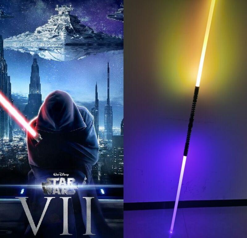 US Ship Star Wars Lightsaber Sword Dueling Force Jedi Metal Hilt Colors Changing