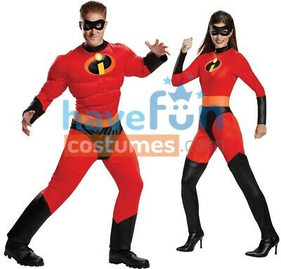 Couples Costumes Mr. Incredible Elastigirl Adult The Incredibles Husband Wife