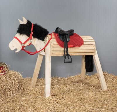 Holzpferd,Pferd,Voltigierpferd, bew. Kopf ca.115-117cm - mit Zubehör