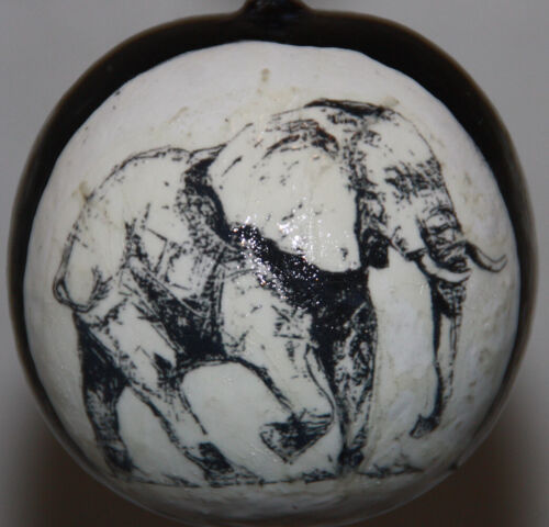 gourd Christmas ornament with elephant