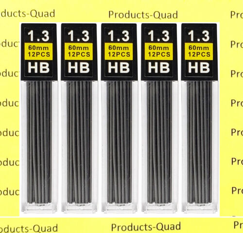 1.3 mm Mechanical pencil lead refills 60 black 1.3mm lead refill Black graphite