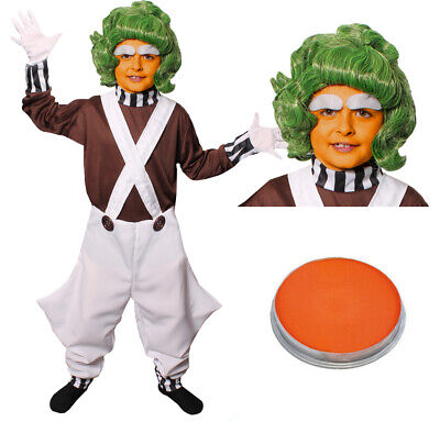 CHILDS FACTORY WORKER COSTUME AND WIG FACE PAINT BOOK WEEK CHARACTER FANCY DRESS (Children's Book Character Costumes)
