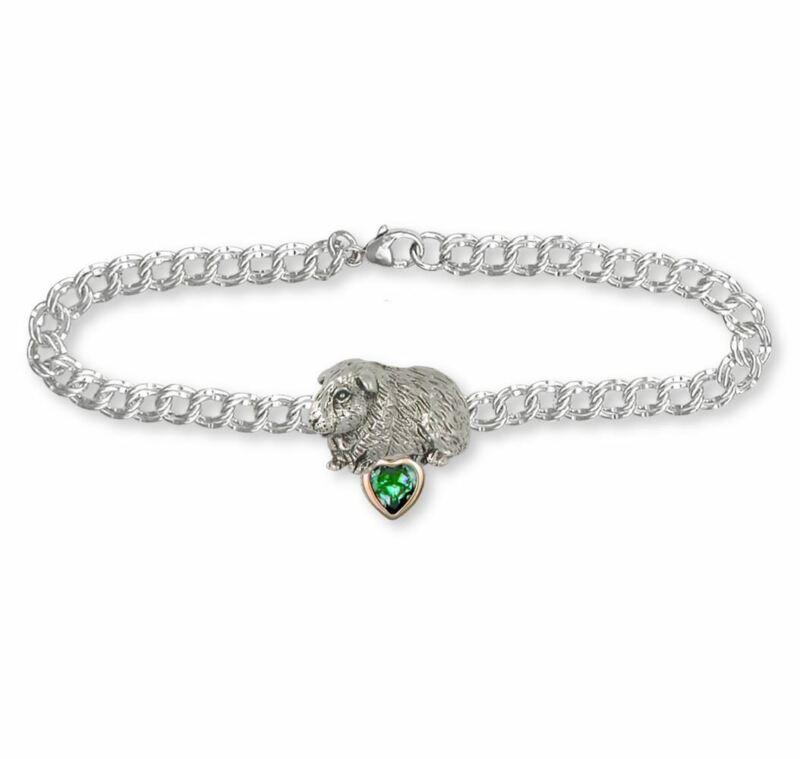 Guinea Pig Bracelet Jewelry Silver And Gold Handmade Piggie Bracelet GP7-TNSBR