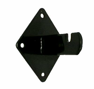 Gridwall Wall Mount Bracket - Grid Panel Mounting Brackets - Black - 24 Pieces