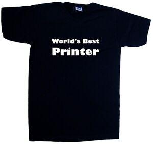 Worlds-Best-Printer-V-Neck-T-Shirt