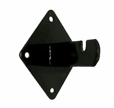 Gridwall Wall Mount Bracket - Grid Panel Mounting Brackets - Black - 12 Pieces