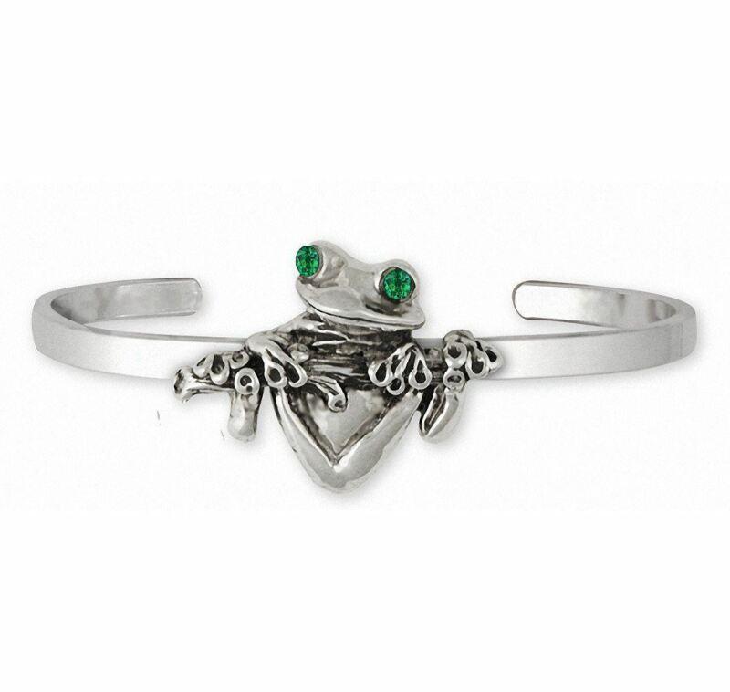 Frog Bracelet Jewelry Sterling Silver Handmade Frog Bracelet FG2-XCB