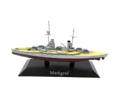 Markgraf Barco de Guerra 1:1250 Acorazado Diecast Agostini *25