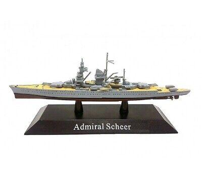 Admiral Scheer Barco de Guerra 1:1250 Acorazado Diecast Agostini*26