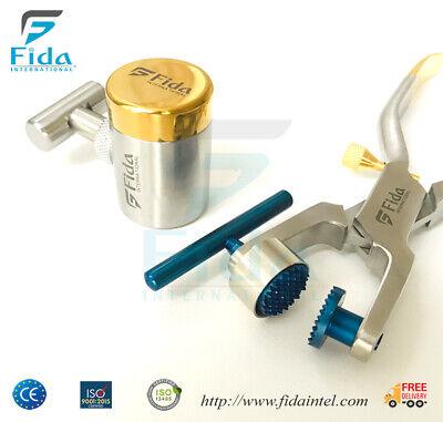 Dental Bone Crusher Mill Grinder Implant Instruments Kit Surgery Tools Set Ce
