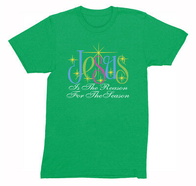 Mens Jesus is the Reason For the Season Religious Christmas Easter T-Shirt