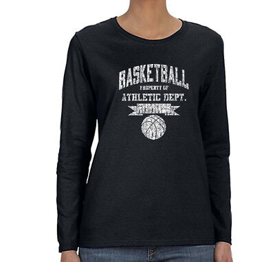Womens Basketball Property of Athletic Dept Sports Fan Game Long Sleeve (Basketball Womens Long Sleeve)