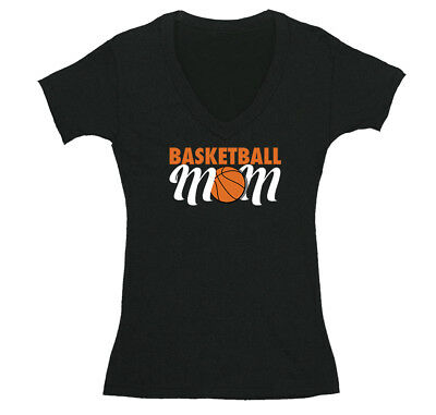 Coach Basketball T-shirt (Womens Basketball Mom Sports Fan Play Game Day Team Coach Gift V-Neck T-Shirt )