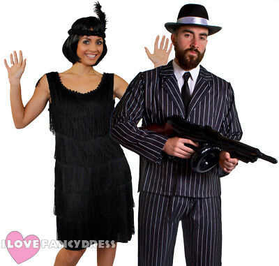 COUPLES GANGSTER AND FLAPPER COSTUMES 1920'S FANCY DRESS THE GREAT GATSBY PARTY](Great Gatsby Mens Costume)