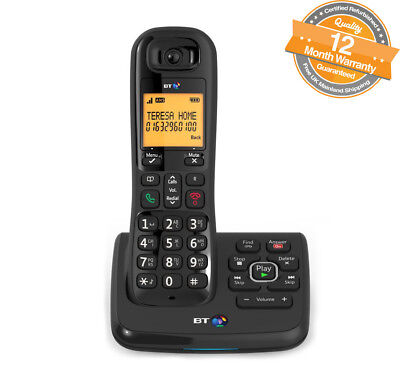 BT XD56 Single Home Cordless Phone Telephone with Nuisance Call Blocker in Black