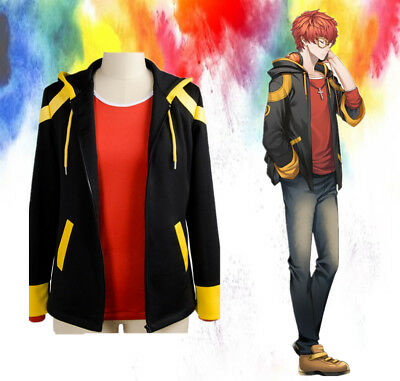 Game Mystic Messenger 707 Luciel Hooded Coat Cosplay Costume Hoodie Jacket - Mystic Costume