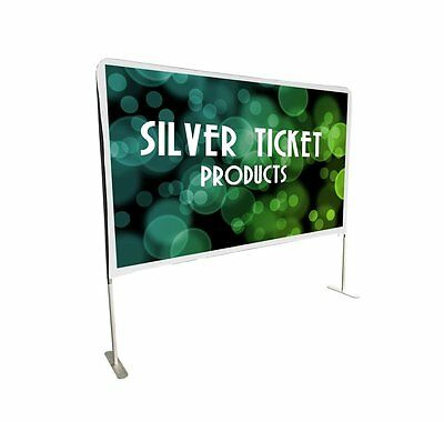 "STE-169100 Silver Ticket Entry Level Indoor/Outdoor Movie Projector Screen 100"""
