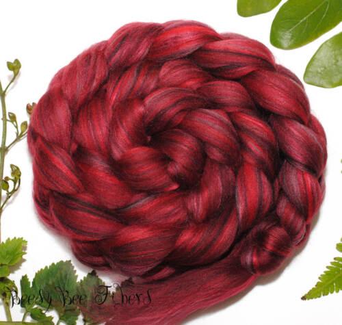 SANGRIA - Merino Bamboo Rayon Blend Combed Top Wool Roving Spinning Felting 4 oz