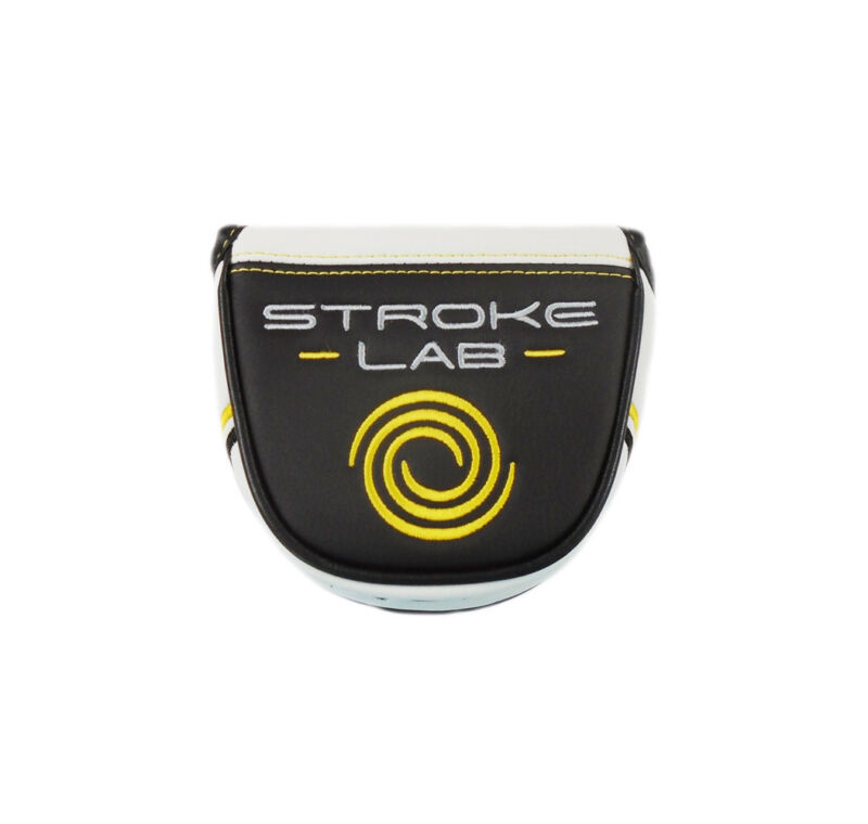 NEW Odyssey Stroke Lab White/Black/Yellow Mallet Putter Headcover