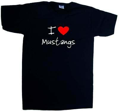 I Love Heart Mustangs V-Neck (Love Mustangs)