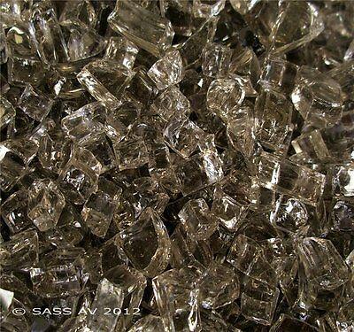 """BRONZE FIREGLASS ~1/4"""" US Fireplace Fire Pit Glass Fire Crystals Glass rocks"""