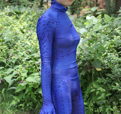 Mystique X Men Costume (X-men Mystique Blue Costume Cosplay Movie Superhero Zentai Suit Halloween)
