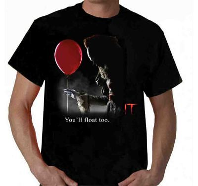 Pennywise t shirt Clown IT Stephen King t-shirt film scary you'll float too ()
