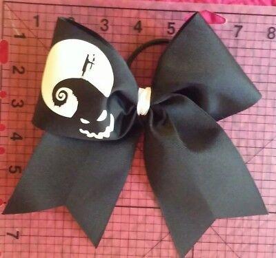 Nightmare Before Christmas Big Cheer Size Hair Bow Halloween - Halloween Cheer Bows