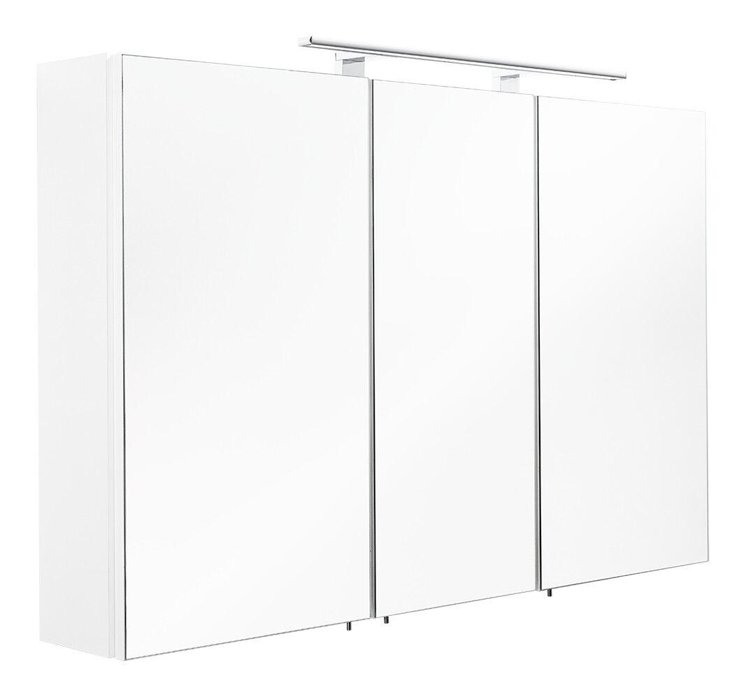Badezimmer Spiegelschrank ANTON in weiß mit LED-Beleuchtung 110x68x16cm #5439-76