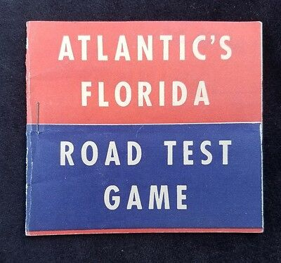Old Ad Premium Atlantic White Flash Motor Oil Atlantic's Florida Road Test Game