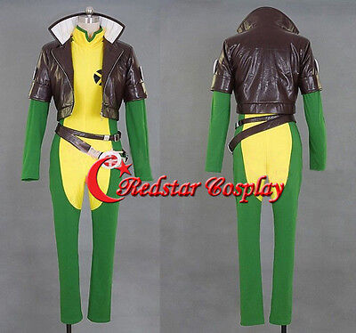 X-men X men Rogue brown leather jacket Costume cosplay anime full - Rogue Xmen Jacket