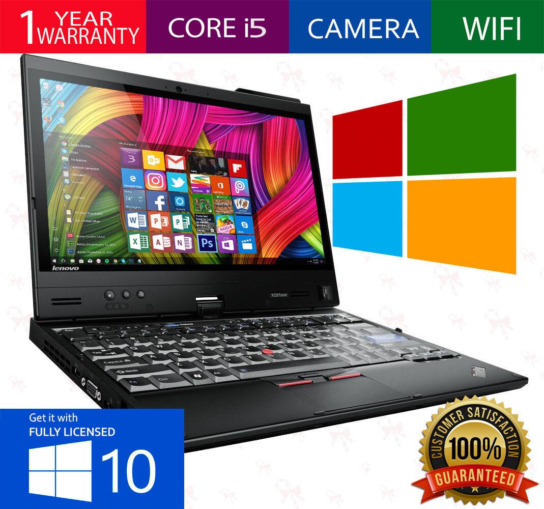LENOVO THINKPAD X220 WINDOWS 10 250GB 4GB RAM CORE i5 i5-2450M 2.6GHz WEBCAM