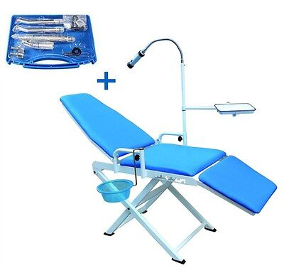 Updated Portable Dental Chair Mobile Unit A High Low Speed Handpieces 4h Set