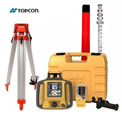 Topcon Rl-sv2s Dual Slope Rechargeable Rotary Laser Level Tripod 16 Rod 10ths