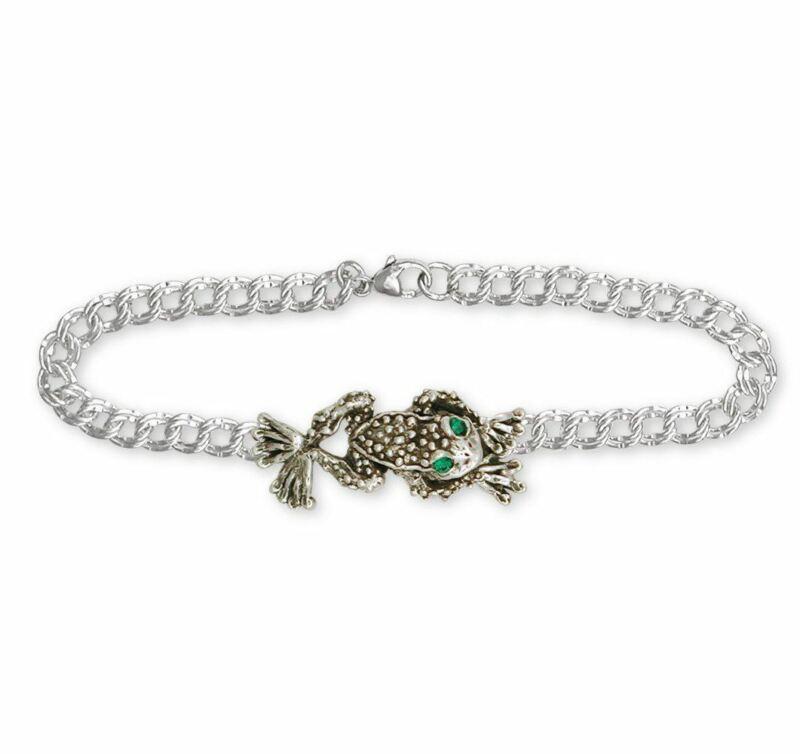 Toad Bracelet Jewelry Sterling Silver Handmade Toad  Bracelet TD1-XB