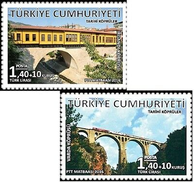 TURKEY 2016, HISTORICAL BRIDGES, IRGANDI BRIDGE, VARDA BRIDGE, MNH